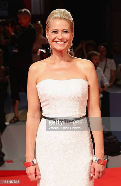 Actress Trine Dyrholm attends the 'Love Is All You Need' Premiere during the 69th Venice Film Festival at the Palazzo del Cinema on September 2 2012...