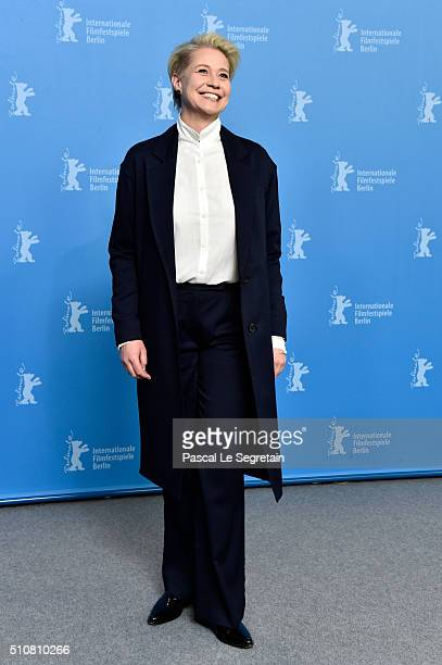 Actress Trine Dyrholm attends the 'The Commune' photo call during the 66th Berlinale International Film Festival Berlin at Grand Hyatt Hotel on...
