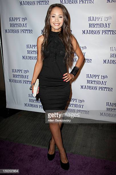 Actress Tristin Mays arrives at the Madison Pettis's 13th birthday party at Eden on July 31 2011 in Hollywood California