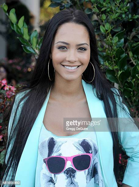 Actress Tristin Mays arrives at the premiere of Sharknado 3 Oh Hell No at iPic Theaters on July 22 2015 in Los Angeles California