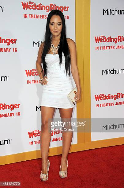 Actress Tristin Mays arrives for the Premiere Of Screen Gems' 'The Wedding Ringer' held at TCL Chinese Theatre on January 6 2015 in Hollywood...