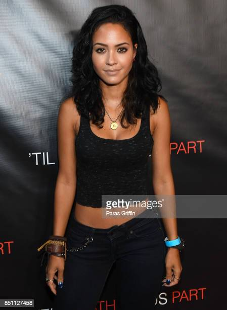 Actress Tristin Mays at ''Til Death Do Us Part' Atlanta Red Carpet Screening and QA at Regal Atlantic Station on September 21 2017 in Atlanta Georgia