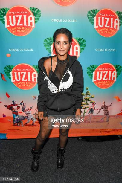 Actress Tristin Mays attends Atlanta Premiere of Cirque du Soleil's 'LUZIA A Waking Dream of Mexico' at Big Top at Atlantic Station on September 14...