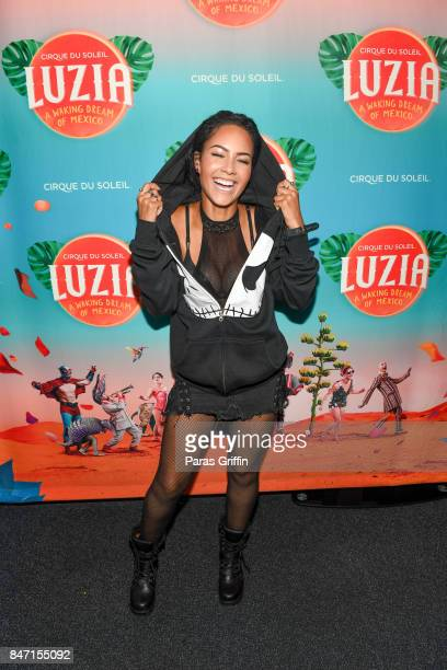 Actress Tristin Mays attends the Atlanta premiere of Cirque du Soleil's 'LUZIA A Waking Dream of Mexico' at Big Top at Atlantic Station on September...
