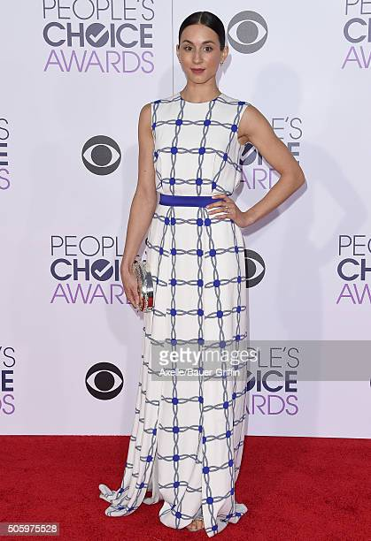 Actress Troian Bellisario arrives at People's Choice Awards 2016 at Microsoft Theater on January 6 2016 in Los Angeles California