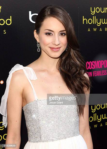 Actress Troian Bellisario arrives at the 2011 Young Hollywood Awards presented by Bing at Club Nokia on May 20, 2011 in Los Angeles, California.