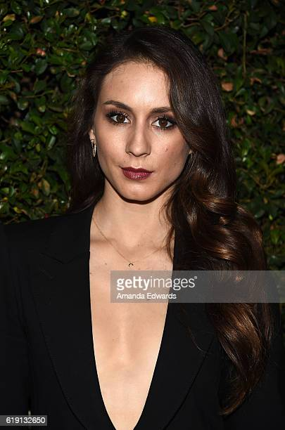 Actress Troian Bellisario arrives at the celebration for Freeform's 'Pretty Little Liars' Final Season at Siren Studios on October 29 2016 in...