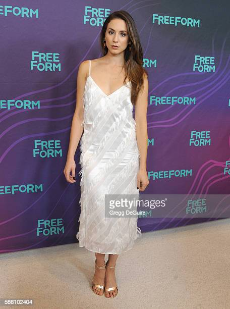 Actress Troian Bellisario arrives at the Disney ABC Television Group TCA Summer Press Tour at the Beverly Hilton Hotel on August 4, 2016 in Beverly...