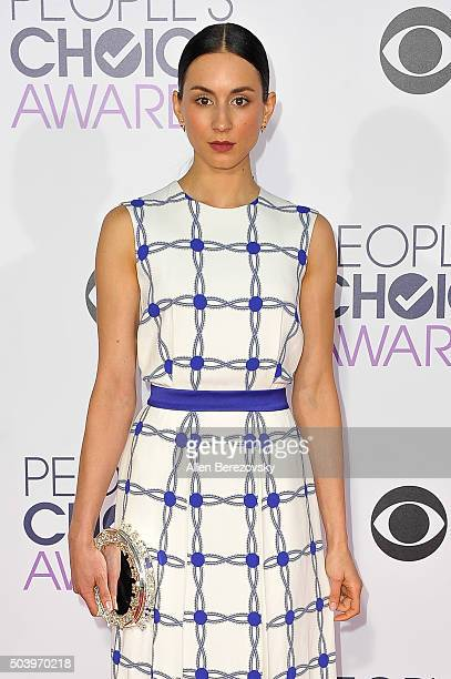 Actress Troian Bellisario arrives at the People's Choice Awards 2016 at Microsoft Theater on January 6 2016 in Los Angeles California