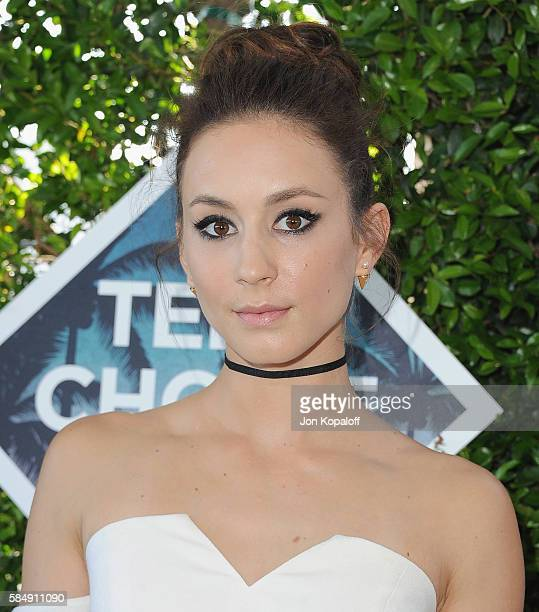 Actress Troian Bellisario arrives at the Teen Choice Awards 2016 at The Forum on July 31, 2016 in Inglewood, California.