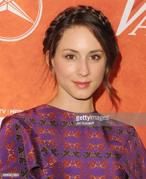 Actress Troian Bellisario arrives at the Variety And Women In Film Annual PreEmmy Celebration at Gracias Madre on September 18 2015 in West Hollywood...