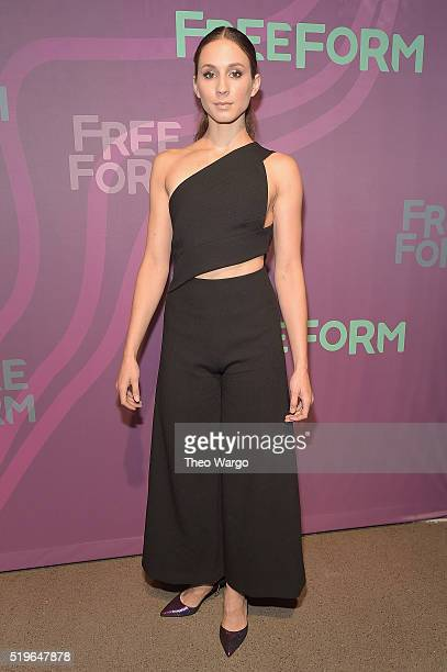 Actress Troian Bellisario attends 2016 ABC Freeform Upfront at Spring Studios on April 7 2016 in New York City