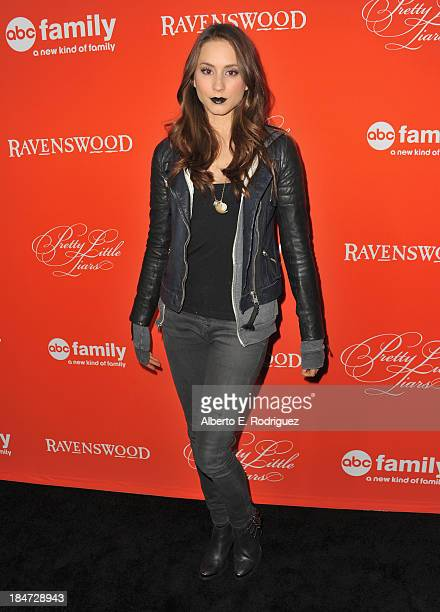 Actress Troian Bellisario attends a screening of ABC Family's Pretty Little Liars Halloween episode at Hollywood Forever Cemetery on October 15 2013...