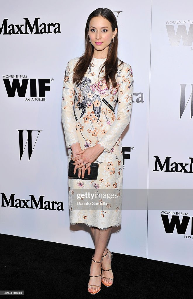 Actress Troian Bellisario attends MaxMara And W Magazine Cocktail Party To Honor The Women In Film MaxMara Face Of The Future, Rose Byrne at Chateau Marmont on June 10, 2014 in Los Angeles, California.