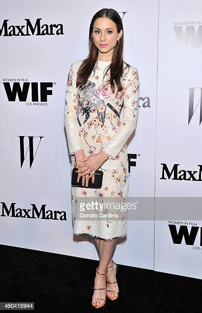 Actress Troian Bellisario attends MaxMara And W Magazine Cocktail Party To Honor The Women In Film MaxMara Face Of The Future Rose Byrne at Chateau...