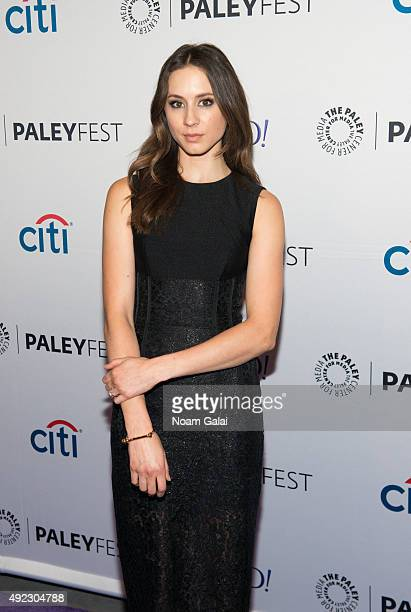 Actress Troian Bellisario attends 'Pretty Little Liars' QA during the PaleyFest New York 2015 at The Paley Center for Media on October 11 2015 in New...
