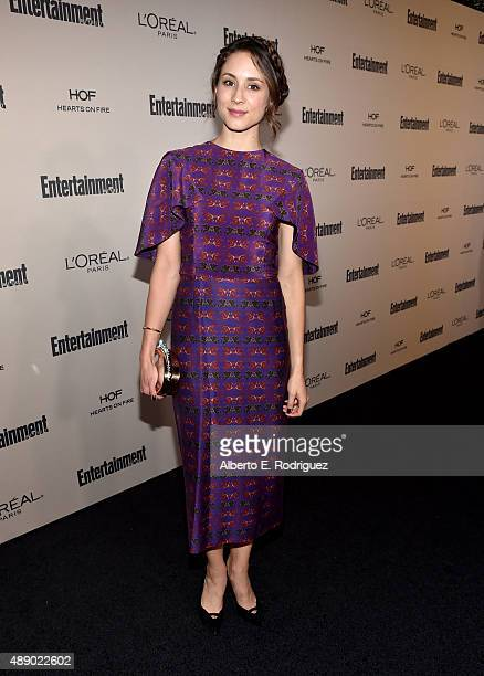 Actress Troian Bellisario attends the 2015 Entertainment Weekly PreEmmy Party at Fig Olive Melrose Place on September 18 2015 in West Hollywood...