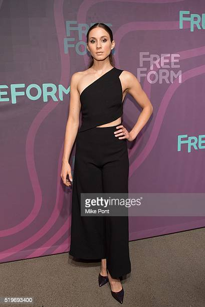 Actress Troian Bellisario attends the 2016 Freeform Upfront at Spring Studios on April 7 2016 in New York City