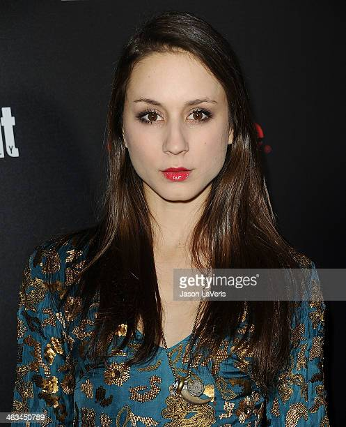 Actress Troian Bellisario attends the Entertainment Weekly SAG Awards preparty at Chateau Marmont on January 17 2014 in Los Angeles California