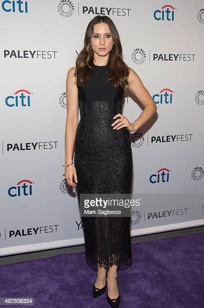 Actress Troian Bellisario attends the PaleyFest New York 2015 'Pretty Little Liars' at The Paley Center for Media on October 11 2015 in New York City