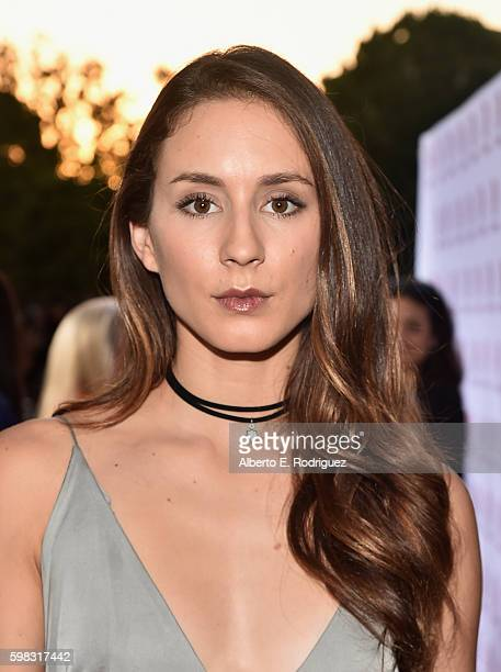 Actress Troian Bellisario attends the premiere of Lifetime's 'Sister Cities' at Paramount Theatre on August 31 2016 in Hollywood California