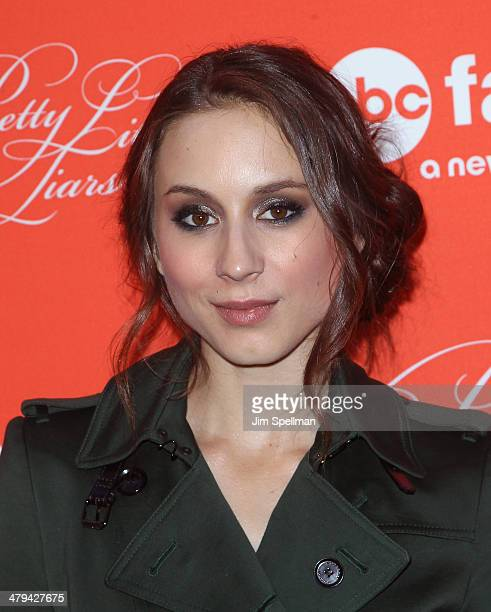 Actress Troian Bellisario attends the 'Pretty Little Liars' season finale screening at Ziegfeld Theater on March 18 2014 in New York City