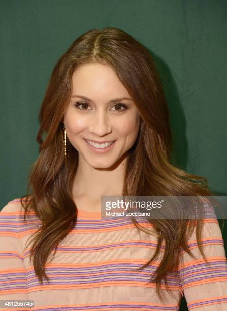 Actress Troian Bellisario attends the Seventeen Magazine February issue unveiling at Barnes & Noble 82nd Street on January 7, 2014 in New York City.