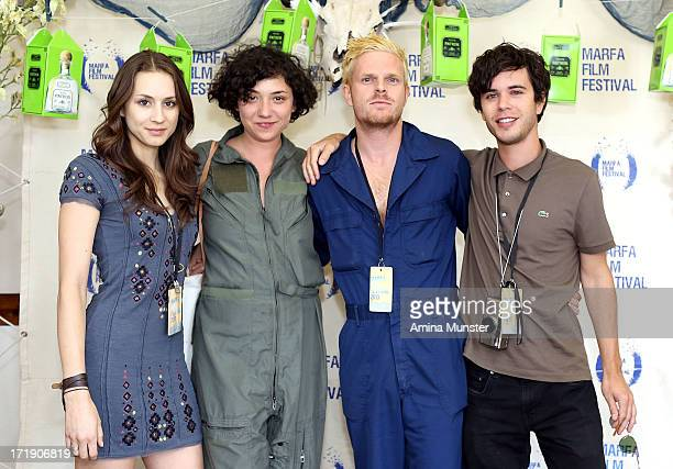 Actress Troian Bellisario Marfa Film Festival founder Robin Lambaria director Tommy Bertelsen and actor Shane Coffey attend the viewing of Exiles...