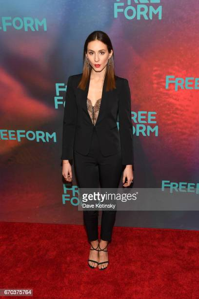 Actress Troian Bellisario of 'Pretty Little Liars' attends Freeform 2017 Upfront at Hudson Mercantile on April 19 2017 in New York City