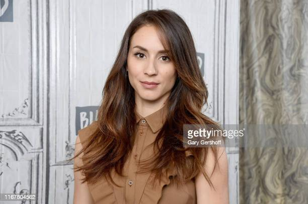 "Actress Troian Bellisario visits the Build Series to discuss the film ""Where'd You Go, Bernadette"" at Build Studio on August 12, 2019 in New York..."