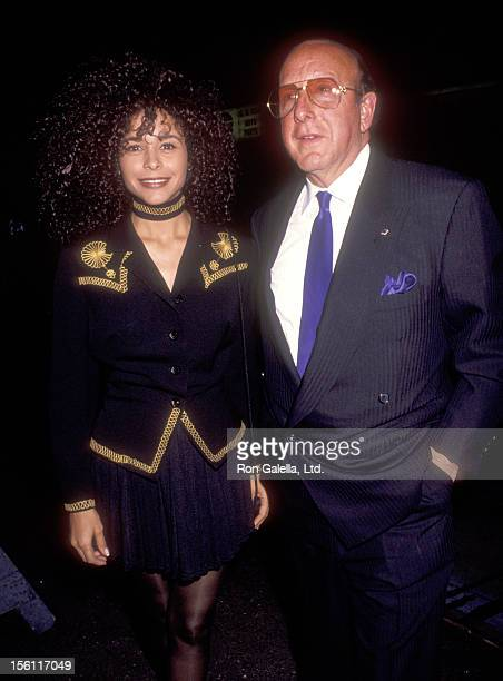 Actress Troy Beyer and Music Industry Executive Clive Davis attend the Wedding of Jellybean Benitez and Carolyn Effer on November 2 1991 at Puck...