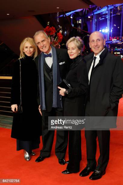 Actress Trudie Styler actor Marshall Bell costume designer Milena Canonero and a guest the 'The Shining Hommage Milena Canonero' premiere during the...