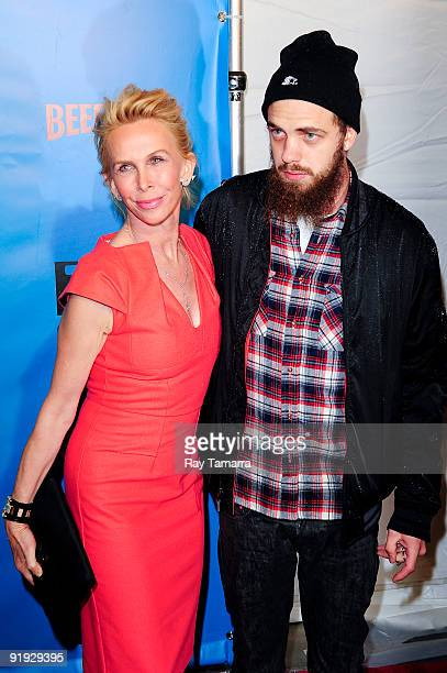 Actress Trudie Styler and model Jake Sumner attend the IFC BAFTA Monty Python 40th Anniversary event at the Ziegfeld Theatre on October 15 2009 in...