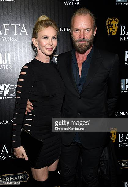 Actress Trudie Styler and musician Sting attend the BAFTA New York The Cinema Society With FIJI Water StGermain party for the New York Film Festival...