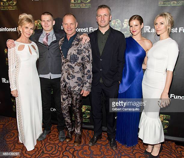 Actress Trudie Styler Giacomo Luke Sumner Sting Joseph Sumner Fuschia Sumner and Mickey Sumner attend the after party for the 25th Anniversary...