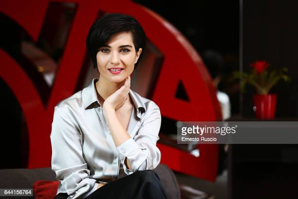 Actress Tuba Buyukustun attends a photocall for 'Rosso Istanbul' at NH Hotel on February 23 2017 in Rome Italy