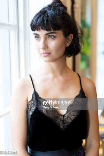 Actress Tuba Buyukustun attends a reception as Angelina Jolie Accepts the Rising Star Award on behalf of 'First They Killed My Father' actress...