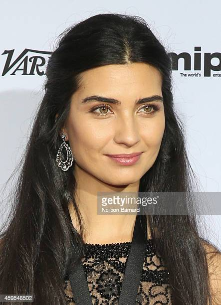 Actress Tuba Buyukustun attends the 2014 International Academy Of Television Arts Sciences Emmy Awards at New York Hilton on November 24 2014 in New...