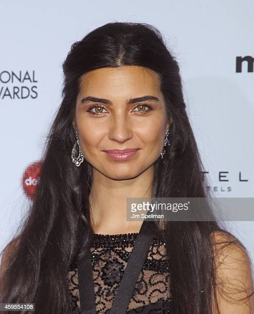 Actress Tuba Buyukustun attends the 2014 International Academy Of Television Arts Sciences Awards at the New York Hilton on November 24 2014 in New...