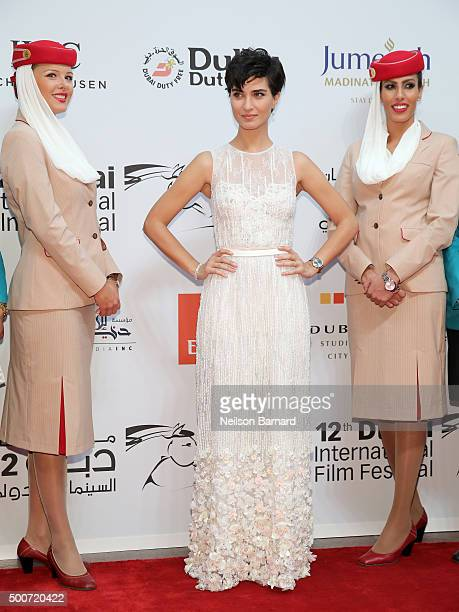 Actress Tuba Buyukustun attends the Opening Night Gala of 'Room' during day one of the 12th annual Dubai International Film Festival held at the...