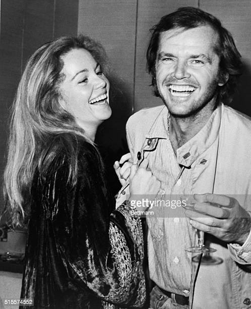 """Actress Tuesday Weld and Jack Nicholson at a reception prior to the World Premiere of the film """"A Safe Place"""". Lincoln Center, NYC. Photo dated Oct...."""