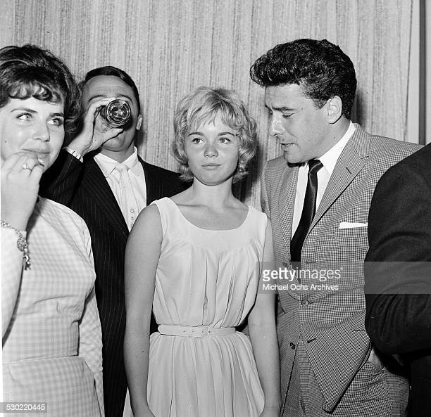 Actress Tuesday Weld attend a party in Los AngelesCA
