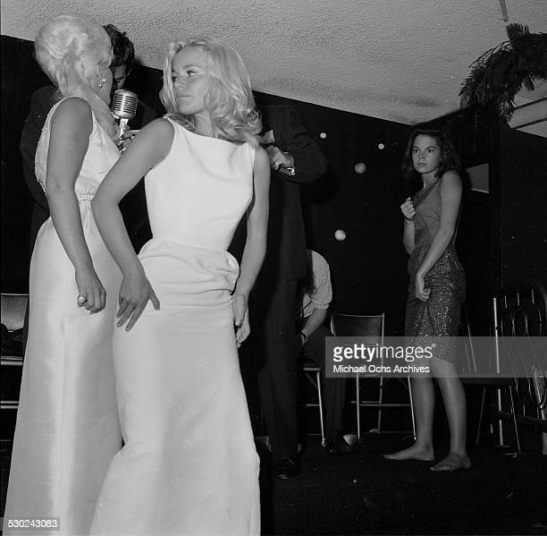 Actress Tuesday Weld dances as she attends an event in Los AngelesCA