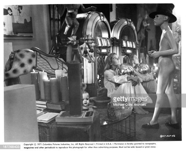 Actress Tuesday Weld on set for the Columbia Pictures movie A Safe Place in 1971