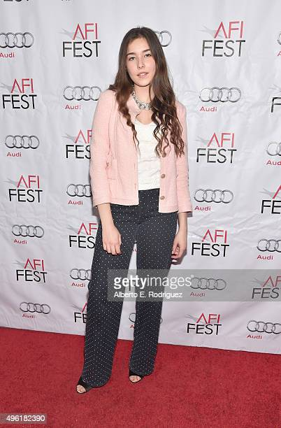 Actress Tugba Sunguroglu attends the photo call for Cohen Media Group's 'Mustang' during AFI FEST 2015 Presented By Audi at TCL Chinese 6 Theatres on...