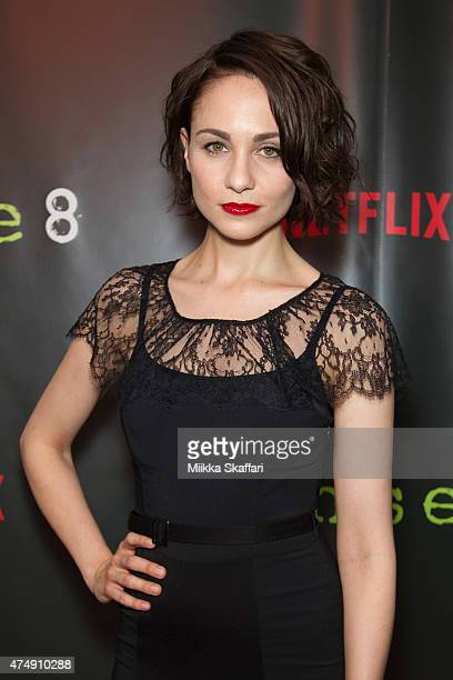 Actress Tuppence Middleton arrives at the Premiere of Sense8 at AMC Metreon 16 on May 27 2015 in San Francisco California