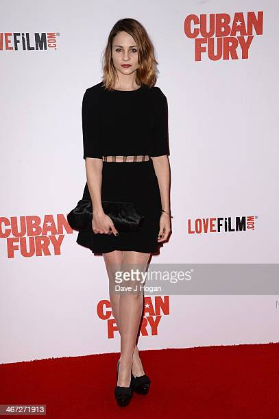 Actress Tuppence Middleton attends the World Premiere of 'Cuban Fury' at Vue Leicester Square on February 6 2014 in London England