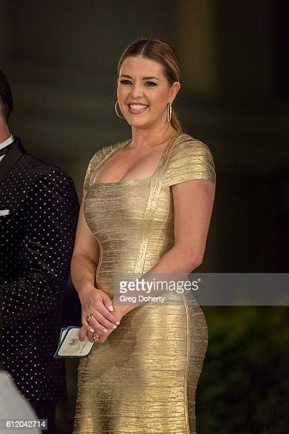 Actress TV host Singer Beauty Queen and former Miss Universe Alicia Machado presents an award at the Metropolitan Fashion Week 2016 Closing Gala And...