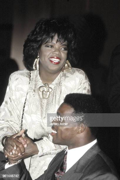 Actress TV Personality and Business Woman Oprah Winfrey with Football Star Herschel Walker Trump Plaza Casino Hotel party prior to Tyson vs Spinks...