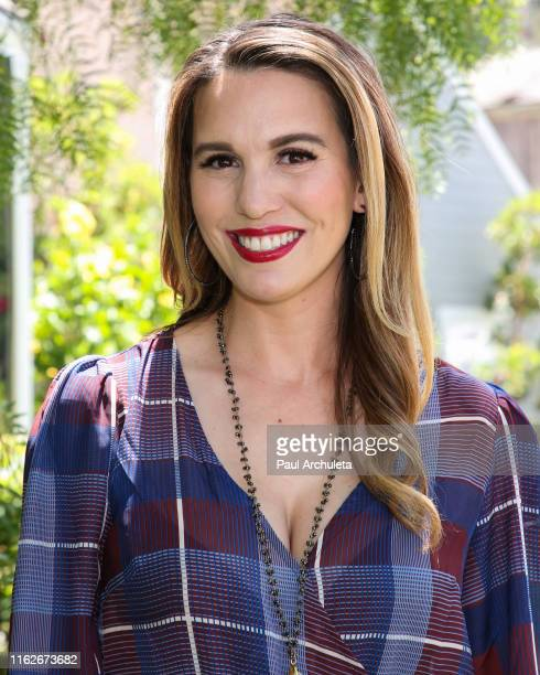 Actress / TV Personality Christy Carlson Romano visits Hallmark's Home Family at Universal Studios Hollywood on July 17 2019 in Universal City...